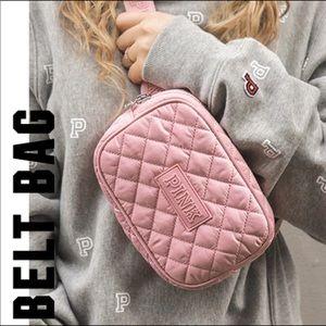 VS Pink Quilted Belt Bag